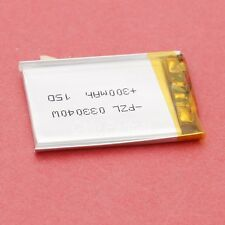 3.7V 300mAh Rechargeable Polymer Li-po battery 033040 For GPS ipod Tablet PC