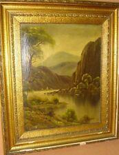 """Becker """"Landschaft"""", Öl/Leinen, Goldrahmen    169/13009"""