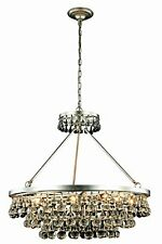Bettina Collection Pendant Lamp D-32 Inch H-30 Inch Lt-10 Silver Leaf Finish