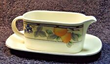 Mikasa Garden Harvest Gravy Boat and UnderPlate CAC29 EXCELLENT!