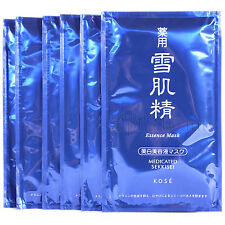 Kose Japan Medicated SEKKISEI Essence Face Mask (6 sheet) with whitening essence