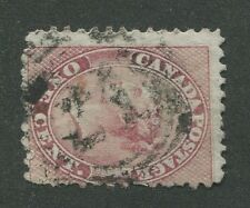 """CANADA #14 USED 4-RING NUMERAL CANCEL """"21"""""""