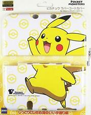 New Nintendo 3DS LL XL Pokemon Pikachu Rubber Coat Case Cover JAPAN