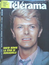 1741 DAVID BOWIE SPECIAL CANNES MEL GIBSON LAURENT BROMHEAD TELERAMA 1983