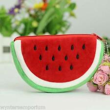 Summer Watermelon Slice Plush Purse Coins Kawaii Quirky