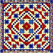 Easy Quilt Kit/Patriotic Star Parade/Pre-cut Fabric Ready To Sew!!!****