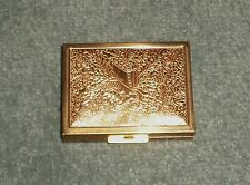 Vintage ZELL FIFTH AVENUE Mirrored Compact Floral Design w/Screen & Applicator