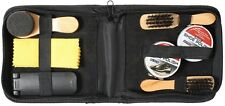 Shoe Care Kit Black Military Shoe & Boot Cleaning Kit With Travel Case 10420