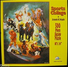 SPORTS COLLAGE #AD16506 ARMANDO M DELGADO 500 PIECE SUNSOUT JIGSAW PUZZLE L-87