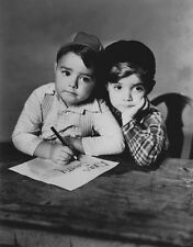 "George ""Spanky"" McFarland and Scotty Beckett photo - H3765 - Our Gang"