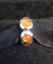 Genuine Pandora Charm Bead Orange Moonstone Cabochon 790538MSO retired