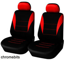 FRONT RED BLACK FABRIC SEAT COVERS FOR FIAT PANDA STILO GRANDE PUNTO 500 BRAVO