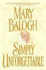 Simply Unforgettable Balogh, Mary Hardcover
