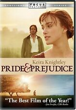 Pride and Prejudice 2005 DVD Family Romance Comedy Tale Video Film Kids Children