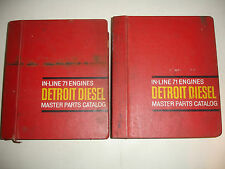 Detroit Diesel PARTS CATALOG In-Line InLine 71 Service Shop Manual MARINE FulSet