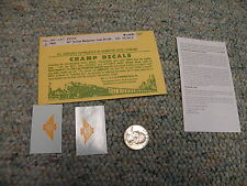 """Champ decals HO HH-147 Erie 40"""" yellow nosepiece from EH-104  L54"""