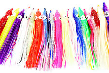 "20MixedColor 4.8""Soft Plastic Octopus Squid Skirt Soft Jig Fishing Lures"