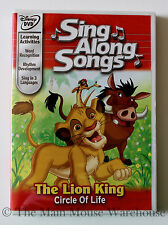 Disney Karaoke Sing Along DVD The Lion King Aladdin Etc. English French Spanish
