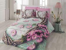 3D Printed Floral 100% Cotton Bedding Set Quilt/Duvet Cover Set Full/Queen 4pcs