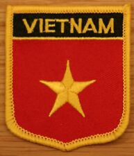 VIETNAM Vietnamese Shield Country Flag Embroidered PATCH Badge P1