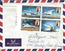 Bahrain Concorde franking Air Mail Cover to Germany