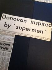 65-6 Ephemera 1966 Donovan New Single Sunshine Superman Review Article