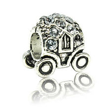 New European Silver CZ Charm Beads Fit sterling 925 Necklace Bracelet Chain d8ss