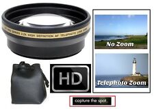 Telephoto 2.2x Hi Def Lens for Canon HF S10 S11 S100