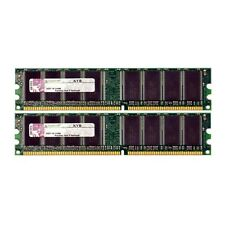 Kingston 2GB 2x1GB PC3200U 400MHz Low Density DDR Non-ECC Desktop Ram Mem T