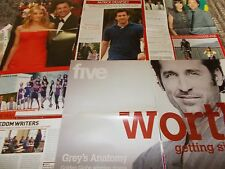 PATRICK DEMPSEY CELEBRITY  CLIPPINGS PACK  GOOD CONDITION