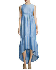 ANTHROPOLOGIE - CO - Sleeveless Tiered High-Low Maxi Dress size L 12 US NEW $695