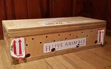 Delta Airlines Wooden Crate Cage Box for Live Animals/Pet 23.5x11x6 Unique!