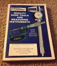 Fowler Shop Tool Manual Catalog 1377 Machinist Book Box Find Indicator Caliper