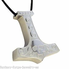 Thors Hammer Pendant Stainless Steel Thors Hammer Pendant Nordic Viking Necklace