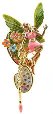KIRKS FOLLY COLOR MY WORLD ENCHANTED FAIRY ARTIST PIN PENDANT   goldtone