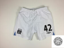MANCHESTER CITY #42 (Yaya Toure) 12/13 *PLAYER ISSUED* Home Football Shorts (L)