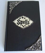 Wiccan Witch's Blank Book of Spells 3-D Metal on Black Hardcover Journal Diary