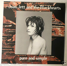 Joan Jett - Pure & Simple promotional Poster/Flat (1994 Warner) EXC CONDITION