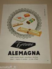 *9=ALEMAGNA TORRONE=1954=PUBBLICITA'=ADVERTISING=PUBLICIDAD=WERBUNG=