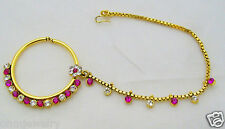 East Indian Nose Ring And Chain for Wedding