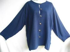 TIENDA HO~DK Blueberry~WOVEN SUSTI~Mali Top~TEXTURAL~Double Layered~OS M L?