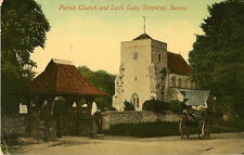 STEYNING( Sussex) : Parish Church and Lych Gate -PICTORIAL CENTRE