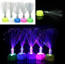 Lamp Stand Night Light Colorful Changing LED Fiber Optic Garden Decor Home New