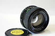 Pentax M42 fit Auto Revuenon 55mm 1:1.4 lens, camera lens made by Tomioka