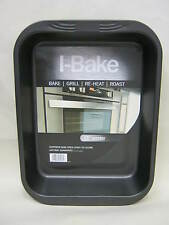 "New I-Bake Large 15"" Roast Roasting Bake Grill Pan Tray 5585"