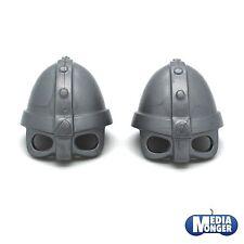 playmobil® Ritter | Barbaren | Wikinger 2 x Helm | Brillenhelm silber