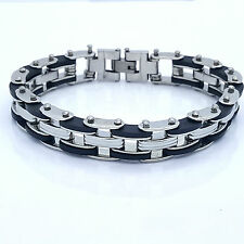 LARGE BIKE CHAIN STAINLESS STEEL 316L MEN'S JEWELLERY BRACELET R4