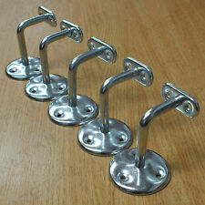 ~SET OF 5~SILVER BANNISTER BRACKETS Metal Rail Staircase Rod Wall Holder Support