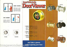 Door Viewer, Peephole, DoorScope 3 Diff. Colors w/ Hole Saw (Gold, White, Brown)