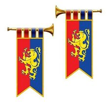 GAME of THRONES Medieval HERALD TRUMPET (2 COUNT) Party Decoration CAMELOT